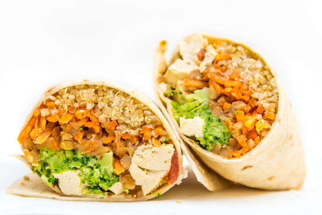 vegan wrap menu